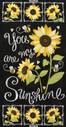 "Beeloved/You are my Sunshine Collection by Gail Cadden - 24"" Sunflower Panel - Daz Fabrics"