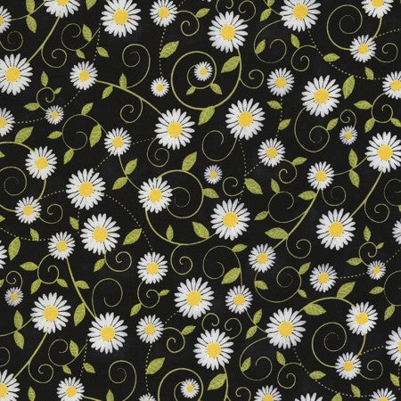 Beeloved/You are my Sunshine Collection by Gail Cadden - Daisy Vines - Yardage - Daz Fabrics