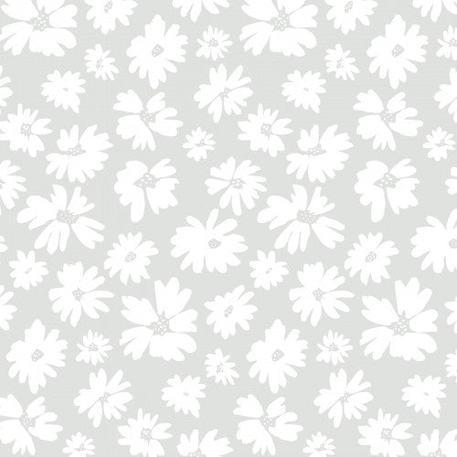 Doodle Blossoms Collection - Wildflowers Gray - Yardage - Daz Fabrics