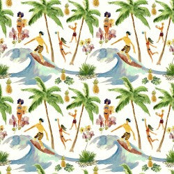 Mini Tropicals Collection by In The Beginning - Surf's Up - Yardage - Daz Fabrics