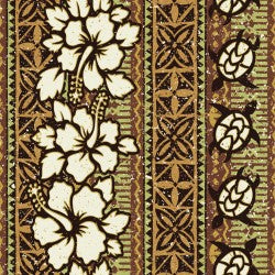 Mini Tropicals Collection by In The Beginning - Wood Cut Stripe Brown - Y617 - Daz Fabrics