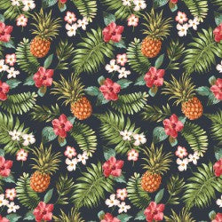 Mini Tropicals Collection by In The Beginning - Pineapples and Flowers - Yardage - Daz Fabrics