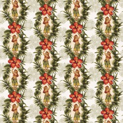 Mini Tropicals Collection by In The Beginning - Hula Girls - Yardage - Daz Fabrics