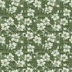 Mini Tropicals Collection by In The Beginning - Hibiscus Green - Y606 - Daz Fabrics
