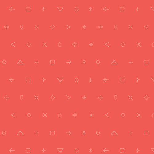Icon Elements Collection by Art Gallery - Coral Emblem - Yardage - Daz Fabrics