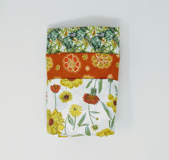 3 Yard Bundle - Fresh Flowers P59 - Daz Fabrics