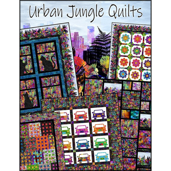 Urban Jungle Quilts by Jason Yenter - 5 Patterns N2 - Daz Fabrics