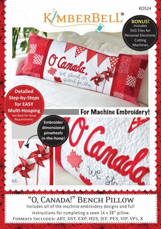 O Canada! Bench Pillow Embroidery CD T17 - Daz Fabrics