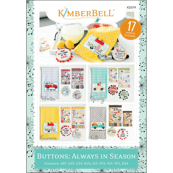 Buttons: Always In Season - Embroidery CD  T24 - Daz Fabrics
