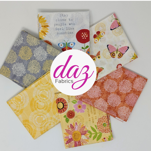 Sing Your Song Collection by Anne Rowan - 6 PC Fat Quarter P409 - Daz Fabrics
