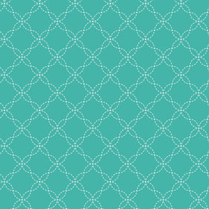KimberBell Basics - Lattice Teal - Y845 - Daz Fabrics