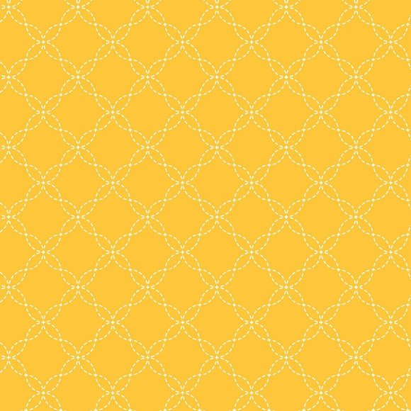 KimberBell Basics - Lattice Yellow - Yardage - Daz Fabrics