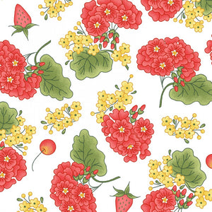 Back Porch Celebration Collection by Meg Hawkey - Grandma's Garden White - Yardage - Daz Fabrics