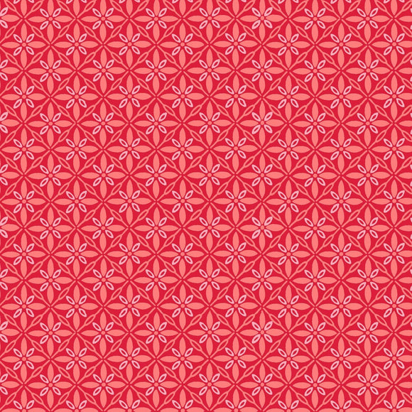 KimberBell Basics - Tufted Red - Yardage - Daz Fabrics