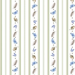 Love Is Collection by Hannah Dale - Petite Stripe White - - Daz Fabrics