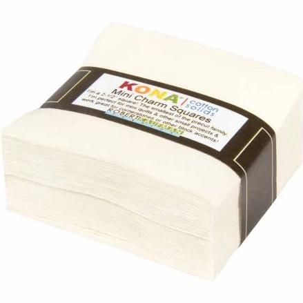 Kona Cotton Snow - 84 PC Mini Squares - Daz Fabrics