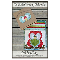 Owl Mug Rug Applique - Pattern