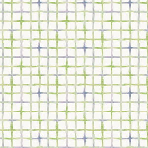 Little Darlings by Sillier Than Sally Designs - Grid Green - Yardage - Daz Fabrics