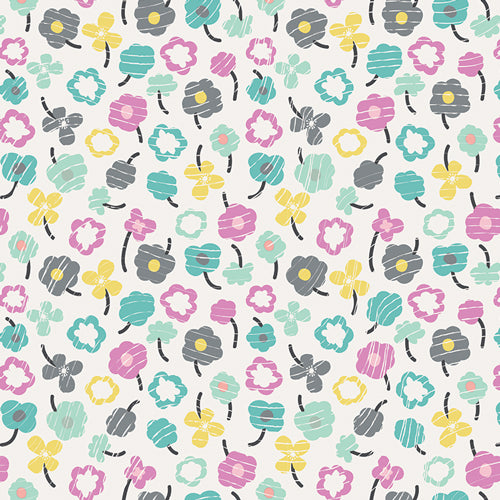 Playing Pop Collection by Art Gallery Studios - Waving Buds Glazed - Yardage - Daz Fabrics