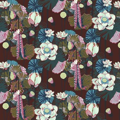 One Mile Radiant by Anna Maria Horner for Anna Maria's Conservatory - Lotus Garnet -  Y2041 - Daz Fabrics