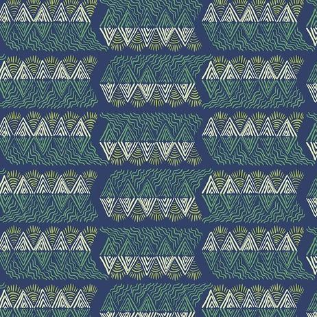 One Mile Radiant by Anna Maria Horner for Anna Maria's Conservatory - Mountain Streams Verdant - Yardage - Daz Fabrics