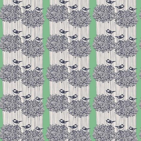 After the Rain by Bookhou for Anna Maria's Conservatory - Birdseed Kelly - Y2744 - Daz Fabrics