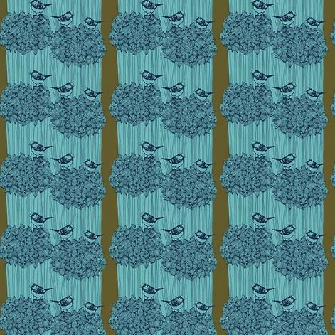 After the Rain by Bookhou for Anna Maria's Conservatory - Birdseed Royal - Yardage - Daz Fabrics