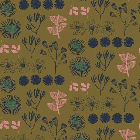 After the Rain by Bookhou for Anna Maria's Conservatory - Inventory Gold - Yardage - Daz Fabrics