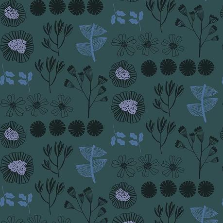 After the Rain by Bookhou for Anna Maria's Conservatory - Inventory Marine - Yardage - Daz Fabrics