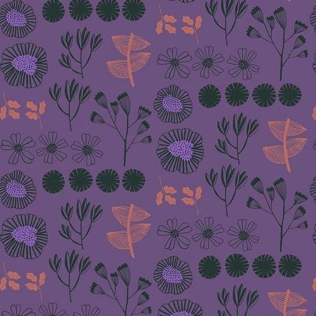 After the Rain by Bookhou for Anna Maria's Conservatory - Inventory Plum - Yardage - Daz Fabrics