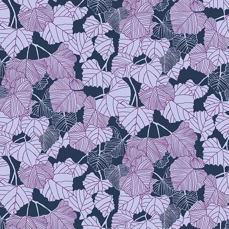 After the Rain by Bookhou for Anna Maria's Conservatory - Shadow Navy - Yardage - Daz Fabrics