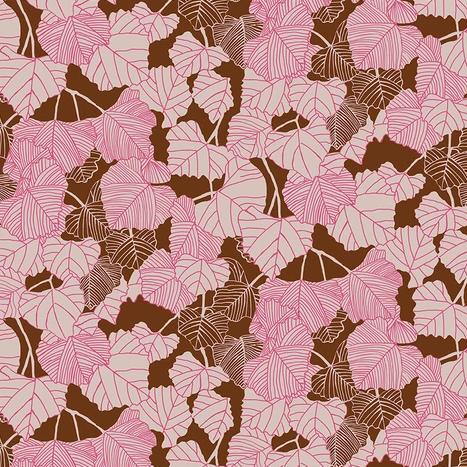 After the Rain by Bookhou for Anna Maria's Conservatory - Shadow Rust - Yardage - Daz Fabrics