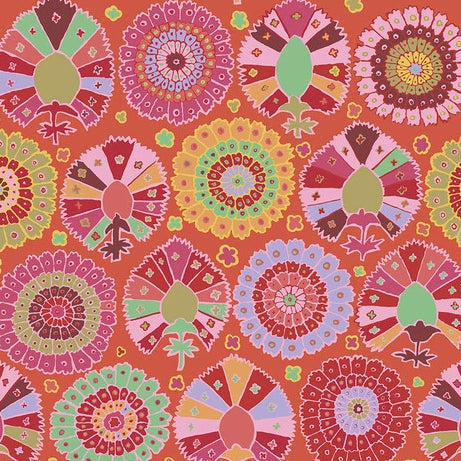 Collective Spring Collection 2019 by Kaffe Fassett - Turkish Delight Red - Y579 - Daz Fabrics