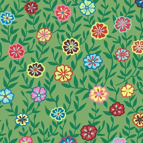 Kaffe Fasset Collective 2020 - Busy Lizzy Green - Y550 - Daz Fabrics