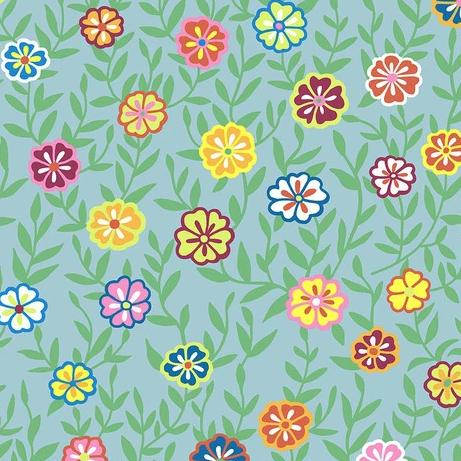 Kaffe Fasset Collective 2020 - Busy Lizzy Turquoise - Y551 - Daz Fabrics
