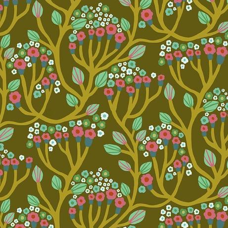 Endless Summer by Monica Forsberg for Anna Maria's Conservatory - Bubbling Brass - Y2302 - Daz Fabrics