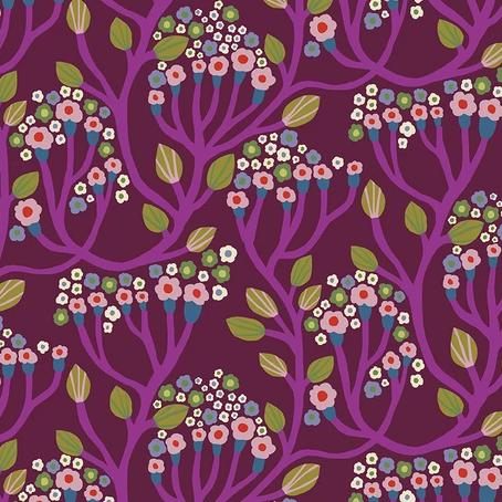 Endless Summer by Monica Forsberg for Anna Maria's Conservatory - Bubbling Magenta - Y2303 KFT - Daz Fabrics