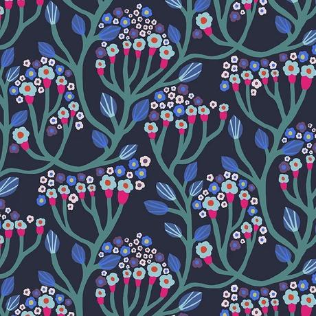 Endless Summer by Monica Forsberg for Anna Maria's Conservatory - Bubbling Midnight - Y2304 - Daz Fabrics