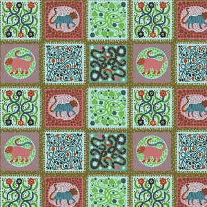 Endless Summer by Monica Forsberg for Anna Maria's Conservatory - Captive Lichen - Y2307 - Daz Fabrics