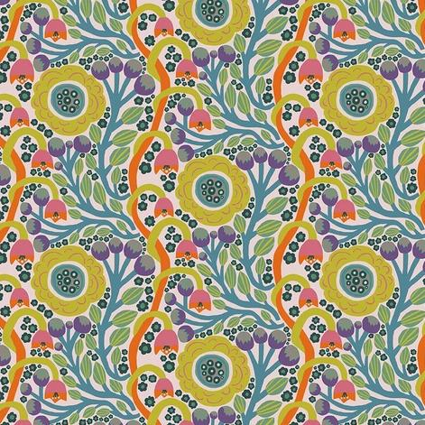 Endless Summer by Monica Forsberg for Anna Maria's Conservatory - Dotty Bloom Sun -  Y2309 - Daz Fabrics