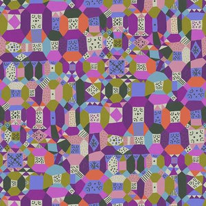 Endless Summer by Monica Forsberg for Anna Maria's Conservatory - Groove Purple - Yardage - Daz Fabrics