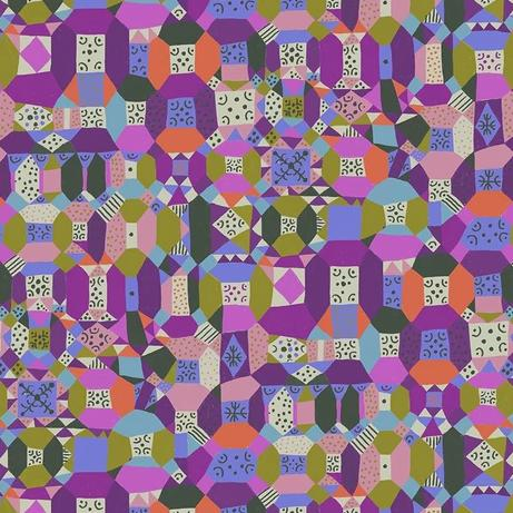 Endless Summer by Monica Forsberg for Anna Maria's Conservatory - Groove Purple - Y2313 - Daz Fabrics