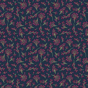 Winter Games by Odile Bailloeul - Winter Berries - Night Blue - Y500 - Daz Fabrics