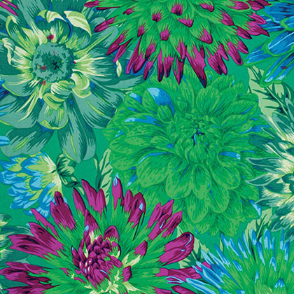 Collective Stash Collection by Kaffe Fassett - Cactus Dahlia Green - Yardage - Daz Fabrics