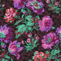 Collective Stash Collection by Kaffe Fassett - Baroque Floral Black - Y581 - Daz Fabrics