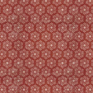 Yuletide by Tim Holtz - Snowflakes Red - Yardage - Daz Fabrics