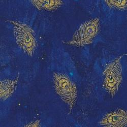 Midnight Plume Collection - Moonlight Feathers by Chong-A Hwang - Yardage - Daz Fabrics