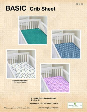 Basic Crib Sheet - Click on RED LINK to Download Pattern in Description Below - Daz Fabrics