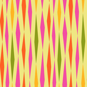 All Lined Up by Judy Gauthier - Diamond Stripe Yellow - Y404 - Daz Fabrics
