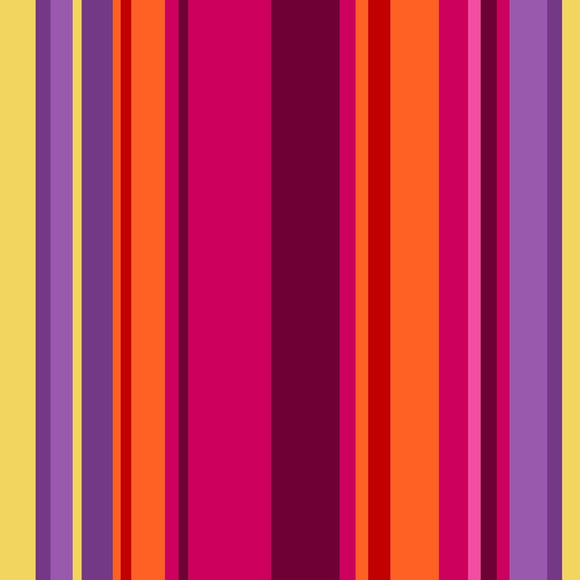 All Lined Up by Judy Gauthier - Wide Stripe Red/Purple - Y407 - Daz Fabrics